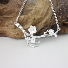 Pendant Necklace Fake Flowers 999 Sterling Silver Handmade Miao Jewelry I Just S Sister Birthday Gifts New Year