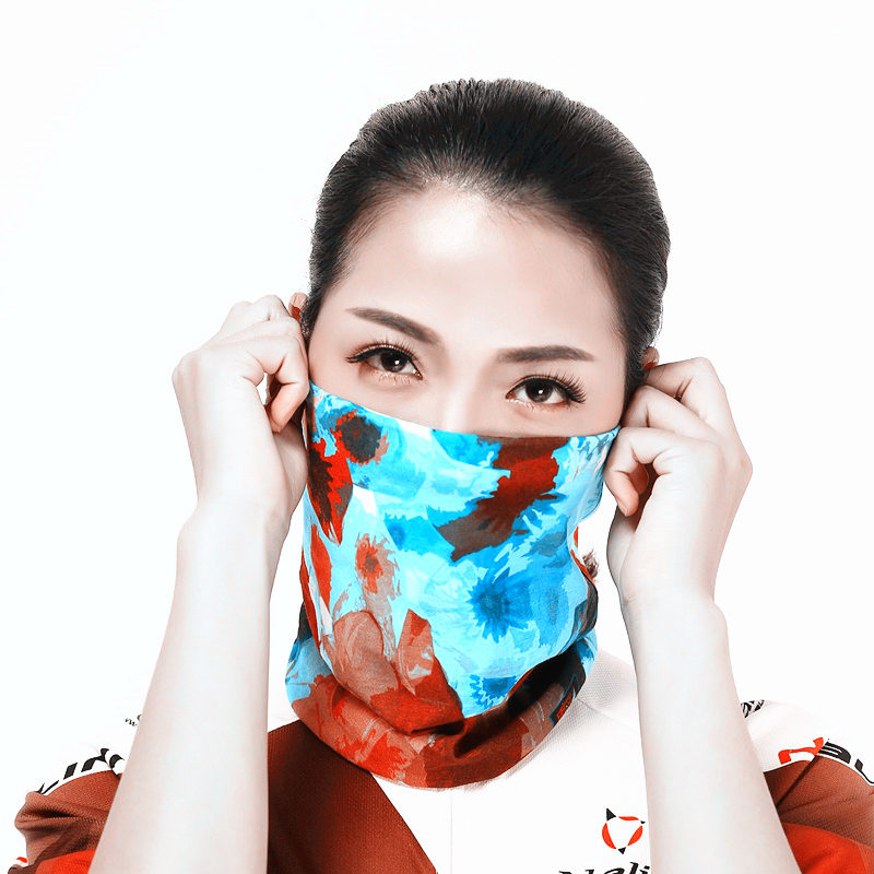 Islamic Clothing Skull Print Men Womens Hijab Scarf Headband Headwear Polyester Windproof Face Mask Neck Warmer Scarves Clothing Accessories Durable In Use