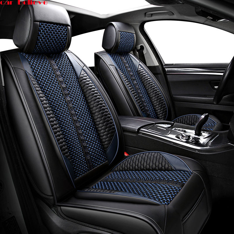 Car Believe leather car seat cover For peugeot 206 407 508 308 301 3008 2017 205