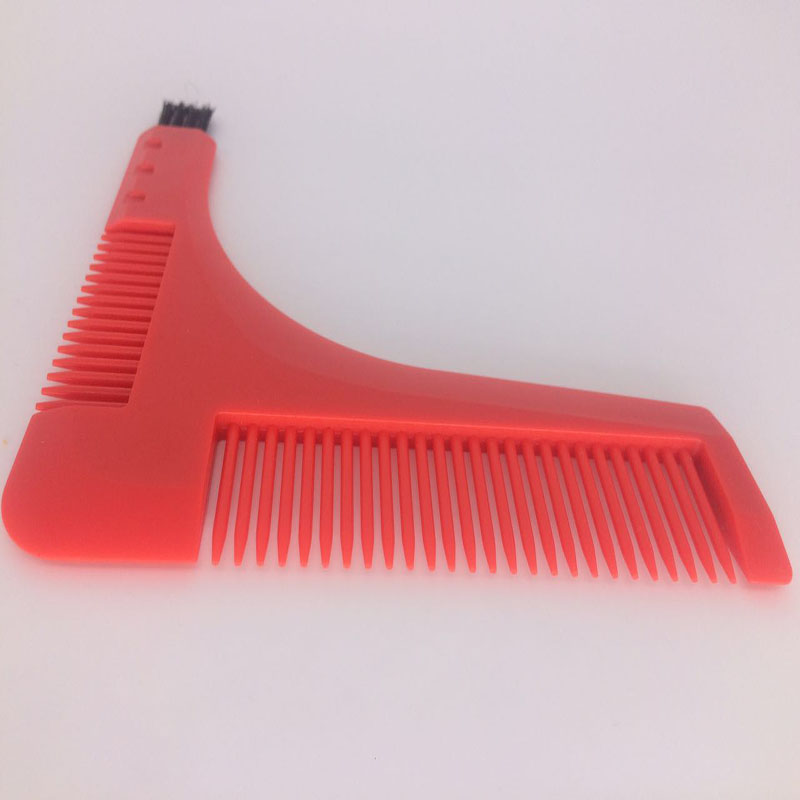 top selling shaving brush beard styling template teeth comb for perfect lines. Black Bedroom Furniture Sets. Home Design Ideas
