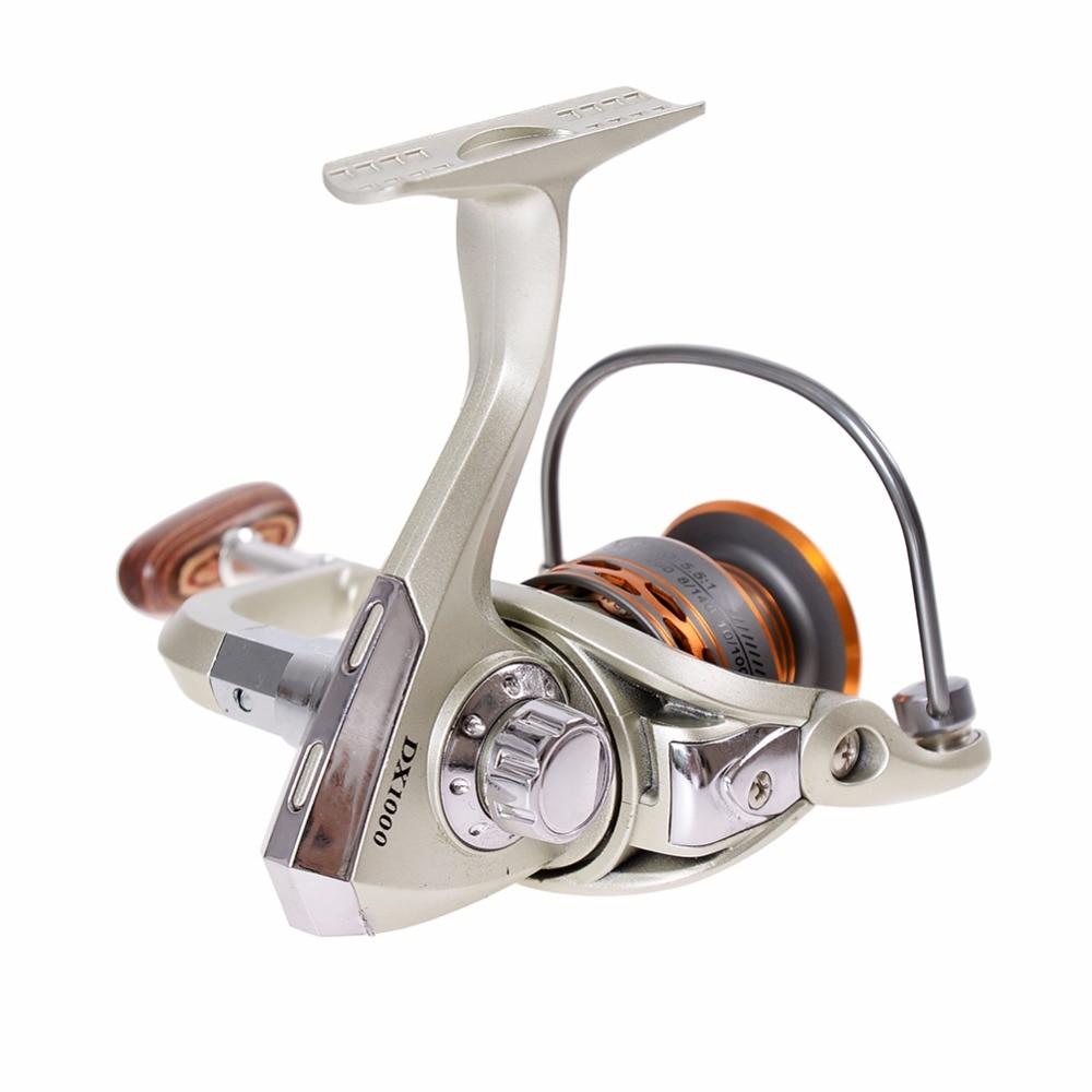 Dx 1000-7000 13bb 5.5: 1 Pesca carrete de metal spinning Carretes de pesca Europa caliente-venta metal spinning carretes
