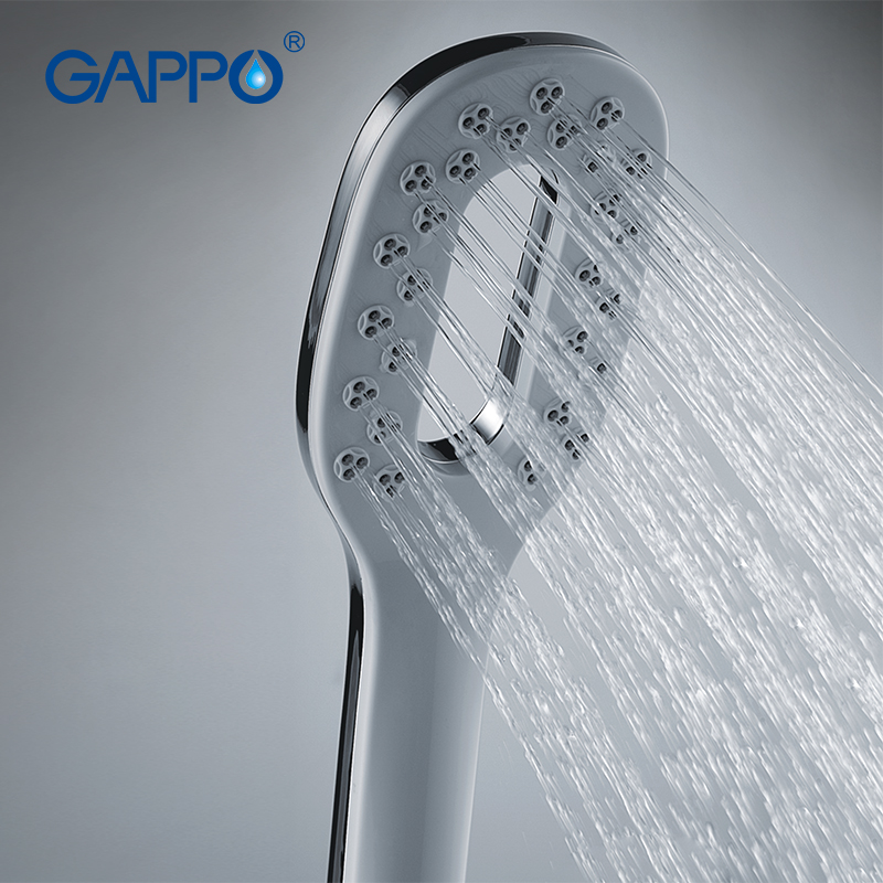 gappo high quality square shower heads bathroom fixture hand shower heads abs in chrome plated water saving shower heads g24