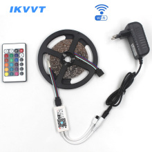IKVVT WIFI RGB LED Strip Light SMD2835 20M Tape DC12V Waterproof Ribbon Diode Neon light with 24key Controller
