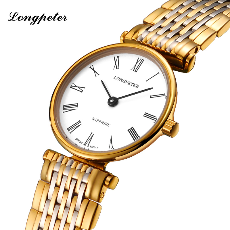 LONGPETER Top Brand Luxury Women Watches Bracelet Stainless Steel Montre Femme Quartz Wristwatches 2018 Relogio Feminino #58334L цена