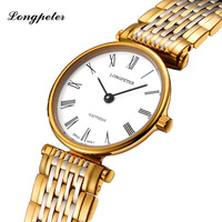 LONGPETER Top Brand Luxury Women Watches Bracelet Stainless Steel Montre Femme Quartz Wristwatches 2018 Relogio Feminino #58334L