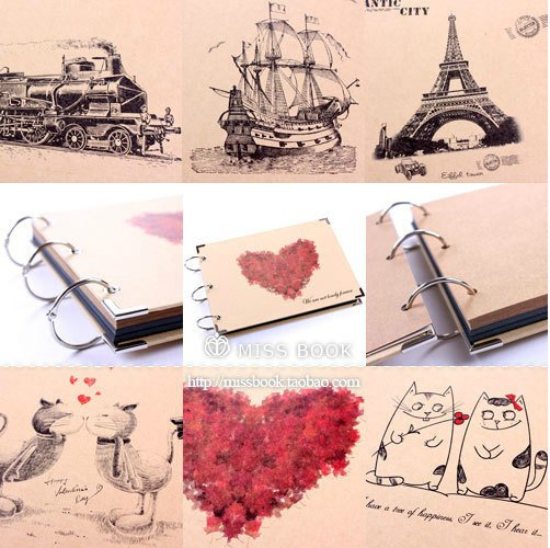 wholesale 4pcs  lot cute diy photo album  baby photo album