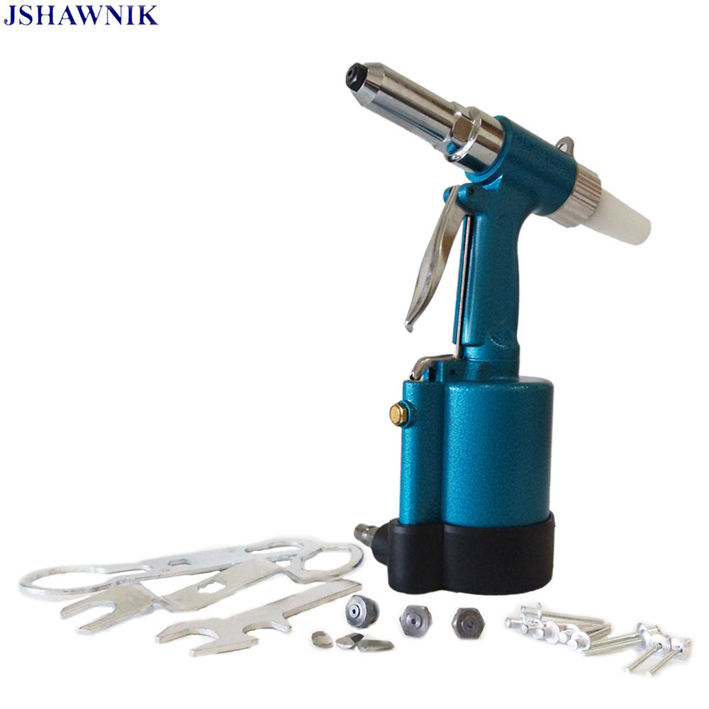 Efficient And Aafe To Carry The Pneumatic Rivet Gun 2.4/3.2/4.0/4.8MM With Waste Rivets Collection Bottle Rivet Tools