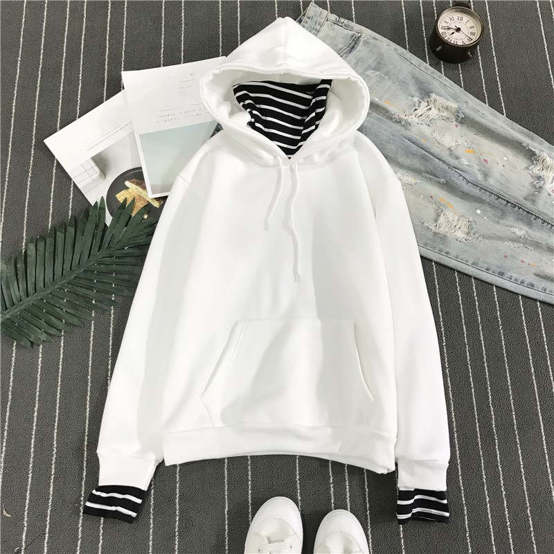 HTB1r5FKG7yWBuNjy0Fpq6yssXXaT - Neploe Harajuku Hooded Sweatshirts Long Sleeve Stripe Patch Hoodies 2019 Winter Fleece Causal Pullover Female Tops 36224