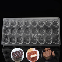 Hard Clear Plastic Imperial Crown Moulds Shaped Polycarbonate PC Chocolate Mold