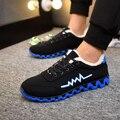 Los hombres Zapatos de invierno 2016 de Moda Superstar Deporte Masculino Zapatos Casual Hombres Zapatos de Lujo de Marca Al Aire Libre zapatos antideslizantes Térmicas
