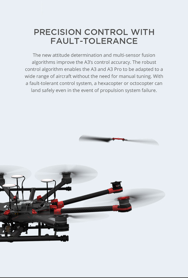 DJI A3 Flight Controller and GPS-Compass Pro and LED Module and PMU for Multicopter