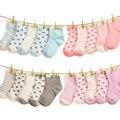 5 Unids/lote Bebé calcetines de bebé niños calcetines 90% del algodón del niño recién nacido niños calcetines del piso suave transpirable calcetines de los niños al por mayor