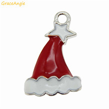 Christmas Decoration Cute Enamel Hat Pendant Charms Jewelry Making Finding Accessory Designed Fashion High Quality 51926