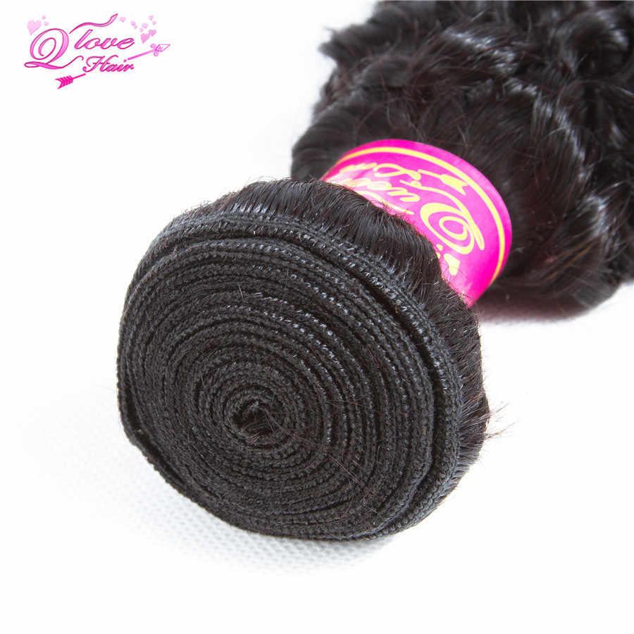 Königin liebe Haar Verworrene Lockige Menschenhaar Welle 4 Bundles Remy Haar Natürliche Farbe Afro Lockige Webart Extensions