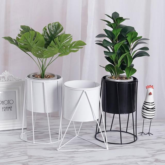 1pc Metal Flower Pot Holder Creative Large Plant Pots Decorative Stand Flowerpot Indoor Maceteros Decorativos Balcony