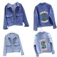 Riverdale Jacket Blue Jeans Blue Denim Riverdale SouthSide Snake, South Side Snake Hoodie Archie Netflix