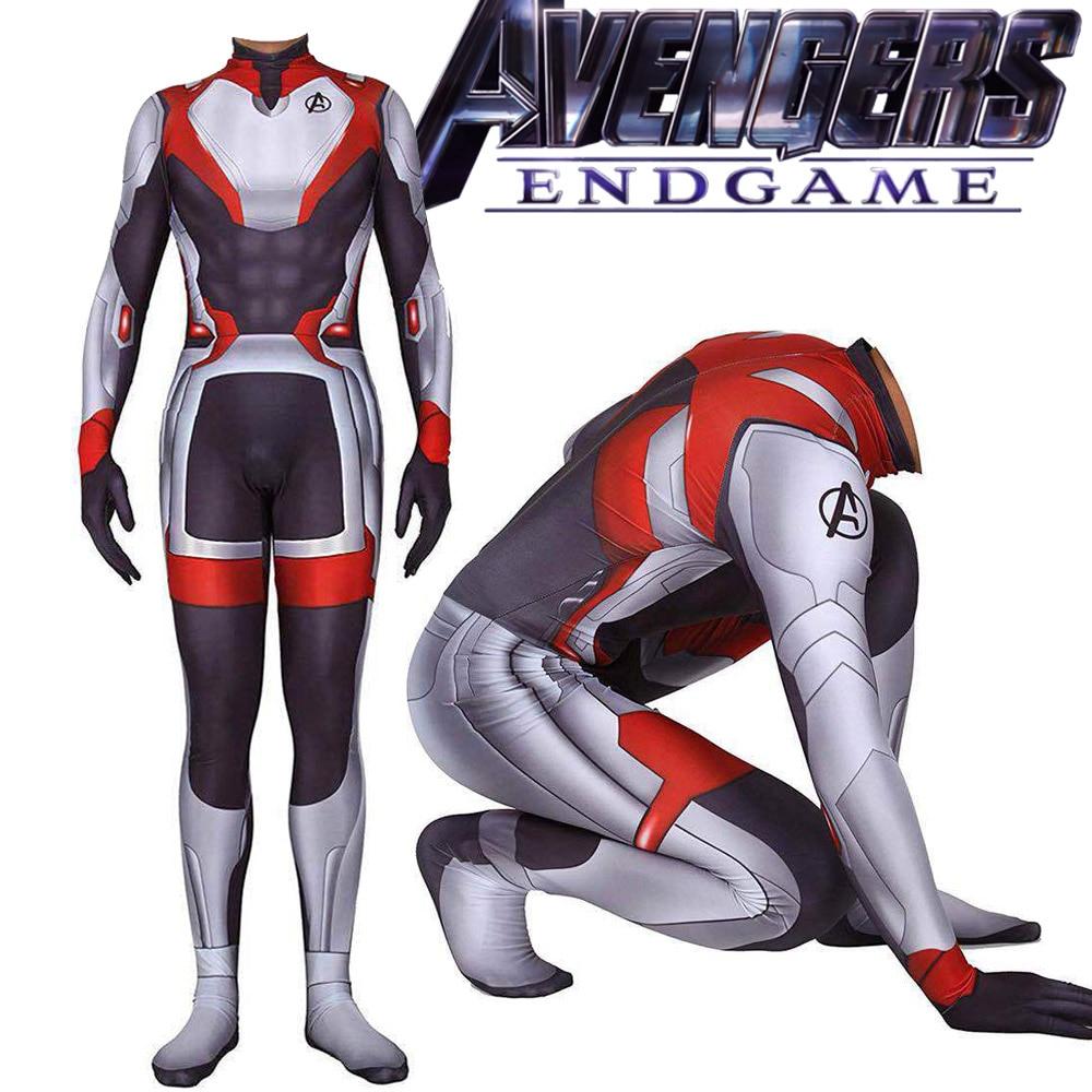 Avengers 4 Endgame Spiderman Captain Cosplay Tights Costume Superhero Bodysuit