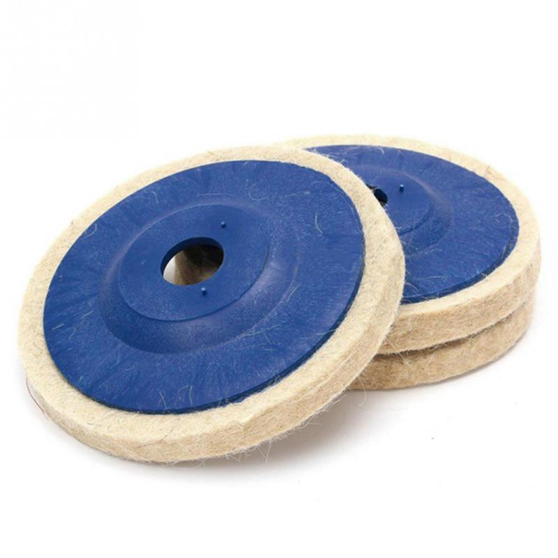 Tools 3pcs Wool Wheel 4 Inch 100mm Wool Wheel Wool Polishing Wheel Mirror Glass Polishing Sheet Wool Mill Felt Wheel Last Style Grinding Wheels