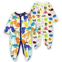 d115d2ae6 Pacote Bebê Recém-nascido Meninos Footed Pijama Dorminhoco 2 3-12 Meses de  Bebês Macacão de Manga Longa Roupas Infantis Meninas