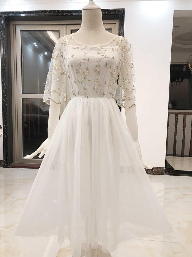 סקסי פורמליות בינוני לבן אלגנטי ערב חתונת ברך אורך קוקטייל שמלות המפלגה שמלות Vestidos דה Coctel Coctail שמלת 549