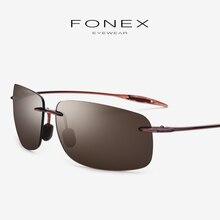 Ultem TR90 Rimless Sunglasses Men High Quality Square Sports Sun Glasses for Women Korea Famous Brand Designer Nylon Lens 1607