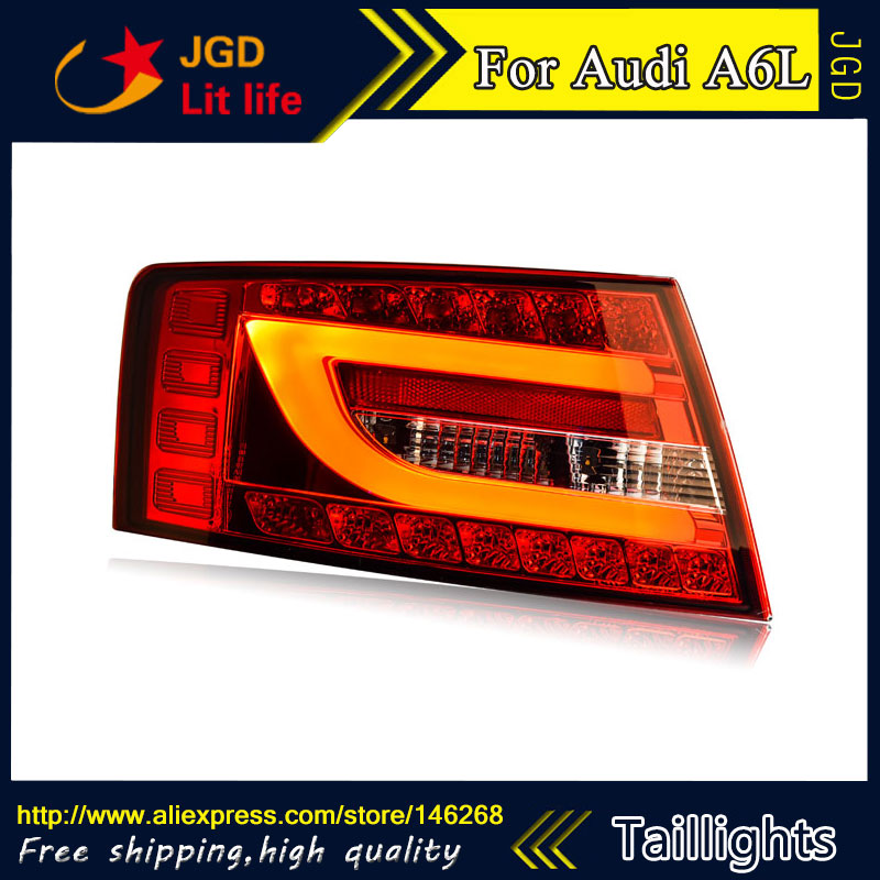 Car Styling tail lights for Audi A6L 2005-2008 LED Tail Lamp rear trunk lamp cover drl+signal+brake+reverse car styling tail lights for toyota prado 2011 2012 2013 led tail lamp rear trunk lamp cover drl signal brake reverse