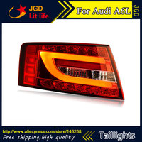 Car Styling tail lights for Audi A6L 2005 2008 LED Tail Lamp rear trunk lamp cover drl+signal+brake+reverse