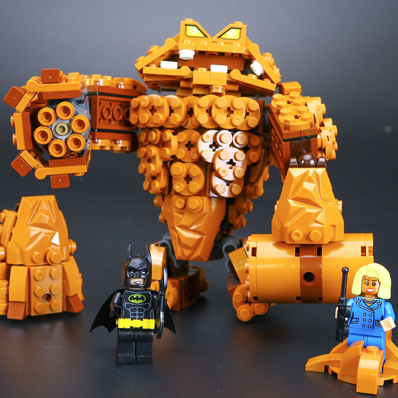 mylb New  Batman Movie The Rock Monster Clayface Splat Attack Building Block Toys Compatible  Batman drop shipping