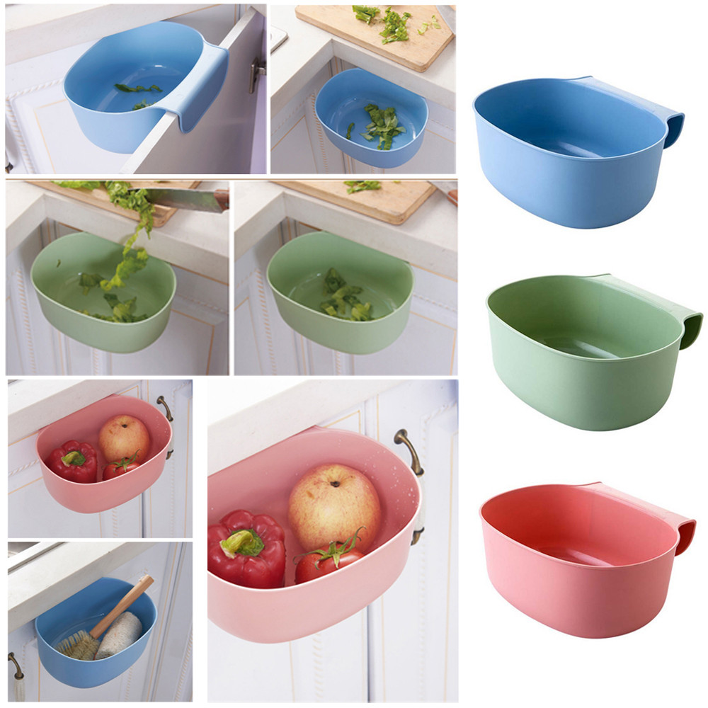 Hot Selling Environmental Hanging Kitchen Cabinet Door Trash Rack Style Storage Garbage Boxs Plastic Organizer Case for Kitchen
