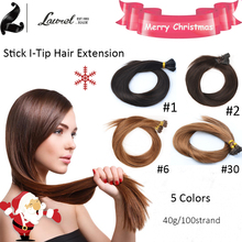 16 18 20 22 24 Blond 3 Colors Remy Stick I Tip Hair Extensions Brazilian Virgin