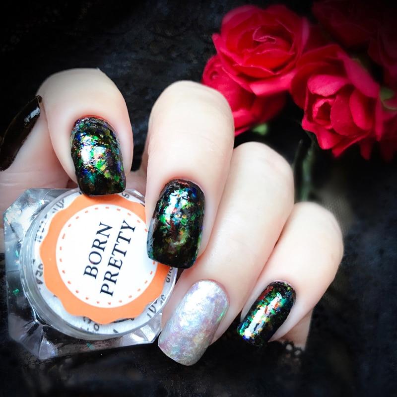 NACIDO PRETTY Camaleón irregular Brillo para uñas 5 colores - Arte de uñas - foto 2