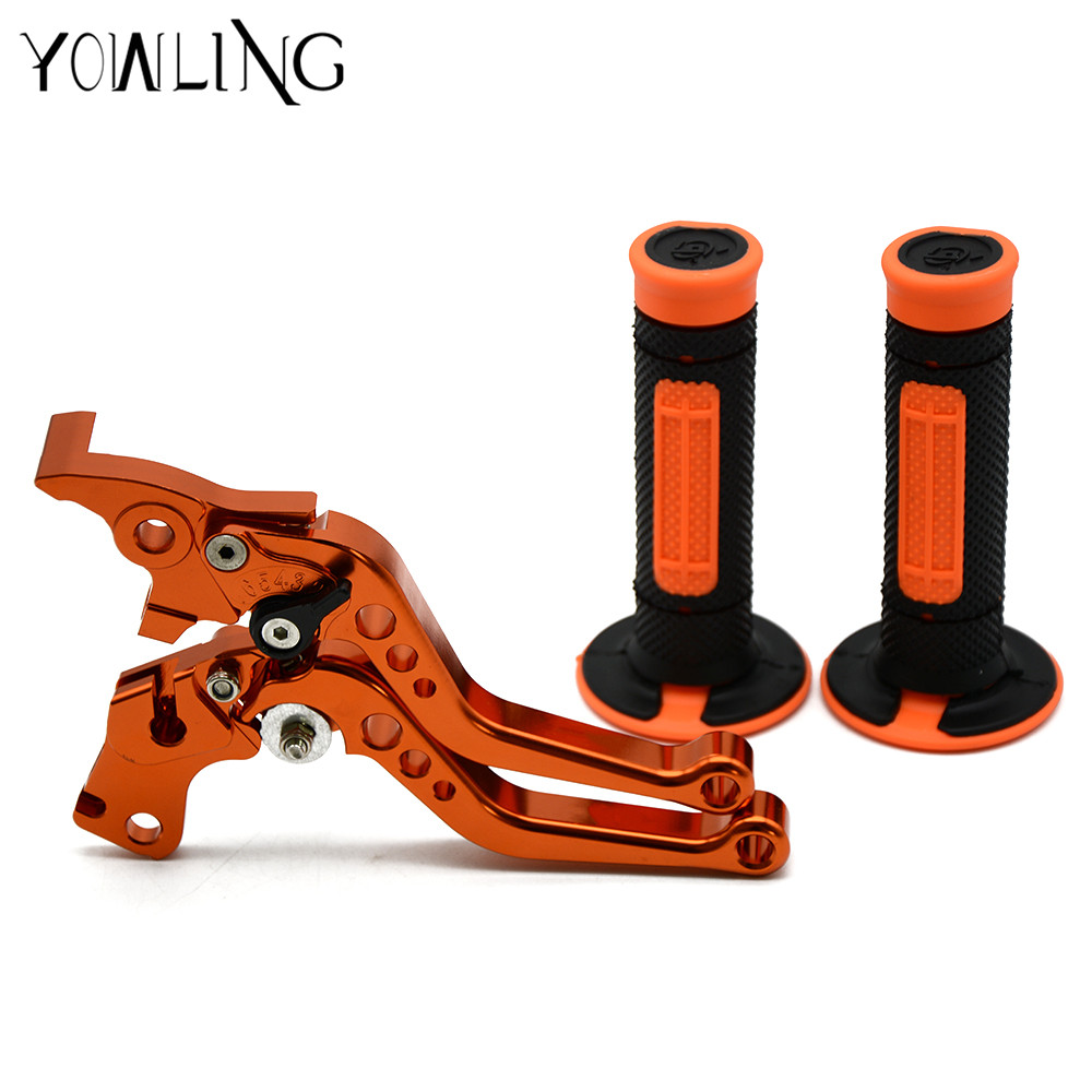 7/822MM Handlebar Rubber Hand Grips Brake Hands Brakes Clutch Lever for KTM 200 Duke RC200 390 Duke RC390 DUKE250 2014 2015 motorbike brakes lever cnc adjustable foldable lengthening brake clutch levers for ktm duke 125 125duke duke 390 2013 2017