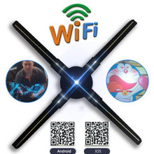 50CM Novelty Wifi RGB 3D LED Holographic Fan Sign Projector Hologram Player LED Display Advertising APP Control Gift for Men alloyseed 3d led 4gb hologram projector holographic dispaly fan unique hologram projector player drop shipping wholesale