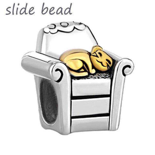 Fit Pandora Charm Bracelets Silver Cat Bracelet In Chair All Brands Beads