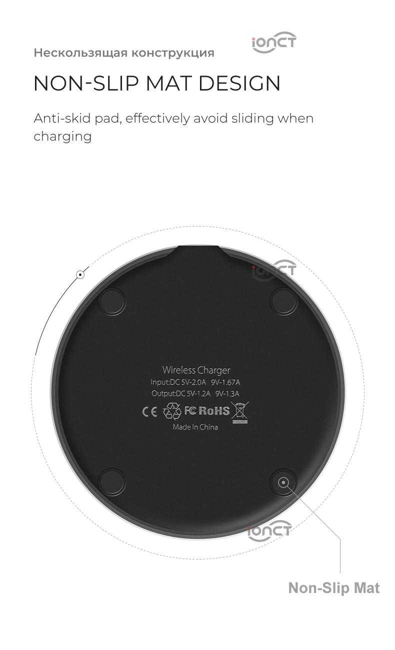 IONCT cargador inalámbrico Qi 9