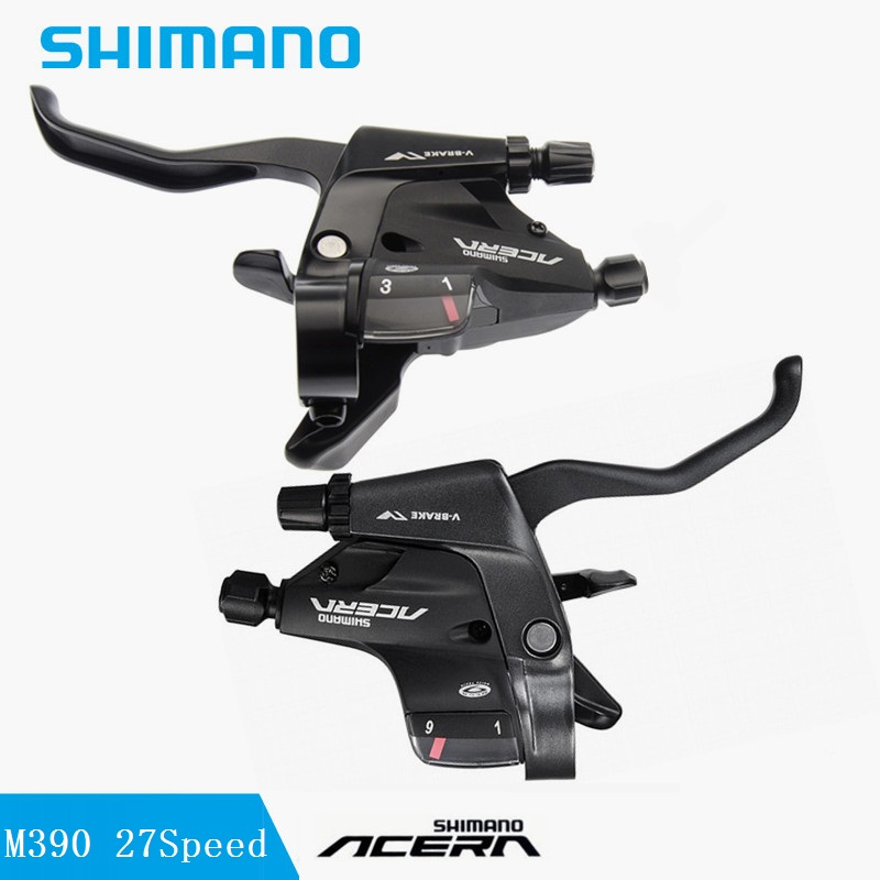 цена на Bicycle Conjoined Dip Derailleur SHIMANO ACERA ST M390 9S 27 Speed Shift Lever & Brake Lever 27S MTB Road Bicycle Accessories
