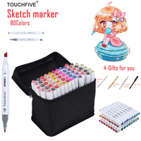 TOUCHFIVE 168 Colors Drawing Marker Pen Animation Sketch Copic Markers Set For Artist Manga Graphic Alcohol