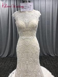 Image 3 - ILoveWedding Vestido largo De novia estilo bohemio, bordado De encaje, sirena, Vestidos De novia estilo bohemio, Vestidos De novia De lujo 2018