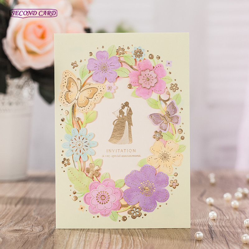 50pcs/Lot Personalized Custom Invitation Card With Envelopes,Inner ...