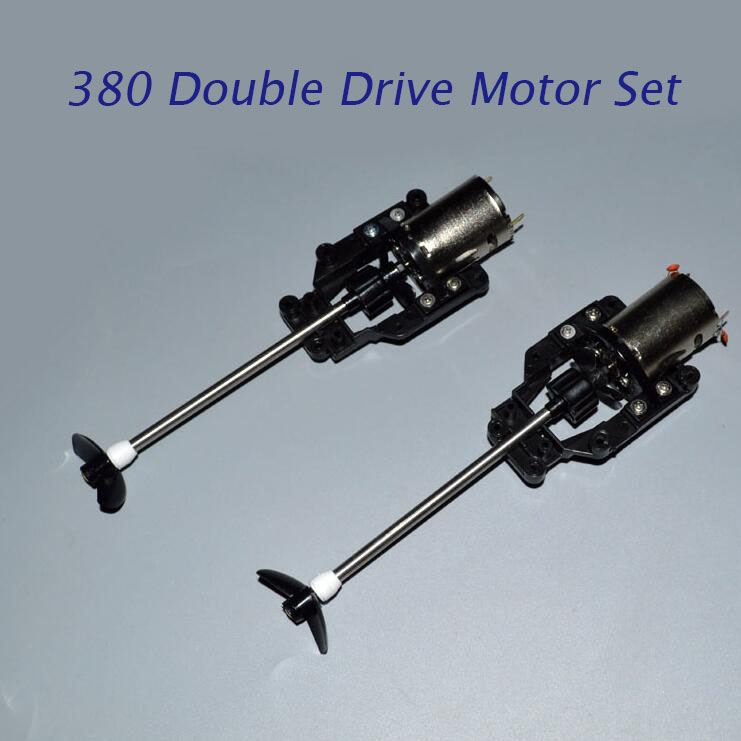1Pair(2 Sets) 380 RC Boat Motor+Shaft+Positve/Reverse Screw Spare Part For DIY RC Electric CAT Boat Model Double Drive Speedboat free shipping 380 boat motor with shaft propeller kit shaft assembly spare parts for diy rc electric boat model 10 15 20 25 30cm