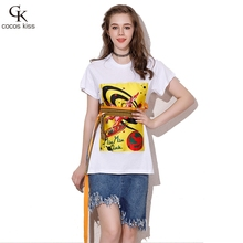 2017 Fashion Womens T-shirt Bow O-neck Pure Special Novelty Casual Gentle Short T-shirt