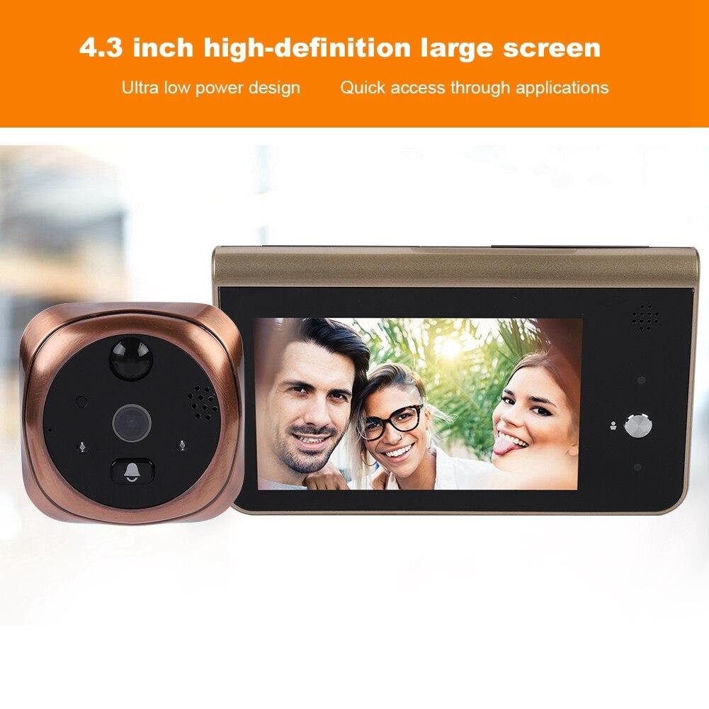 4 3 inch 720P Wifi Doorbell Visible Wireless Intelligent WiFi Security Doorbell Visual Recording Remote Intercom doorbell in Doorbells from Home Improvement