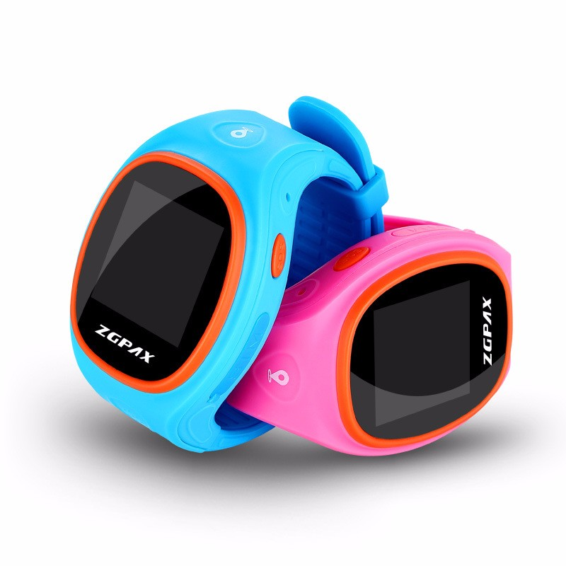 ZGPAX S866A Bluetooth Smart Watch SOS GPS Tracking Smartwatch Anti-lost Alarm For iOS Android Phone Children Gifts Watches new children smart watch kid boy girl bluetooth smartwatch phone gps positioning sos monitoring support sim card for ios android