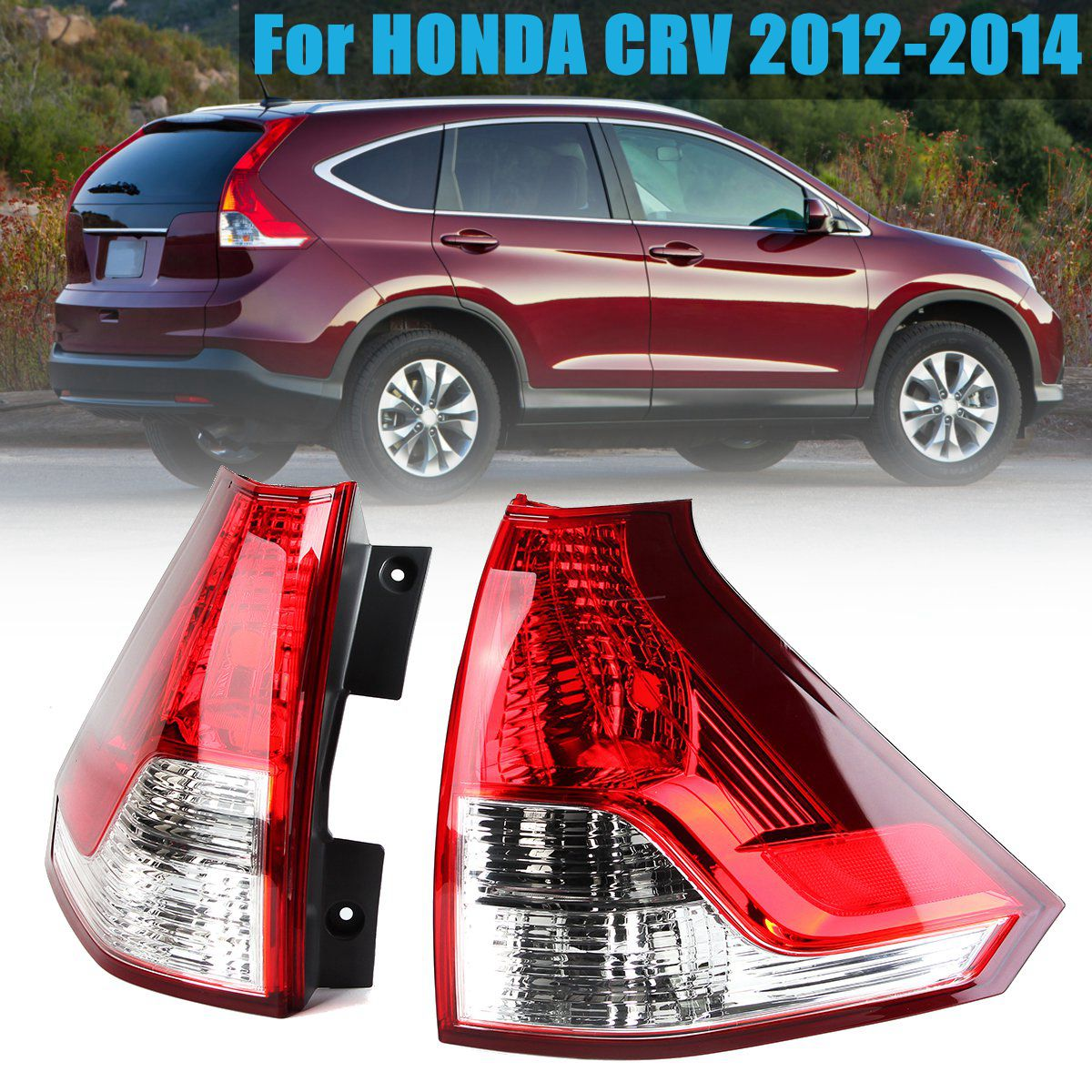 Tail Light Clear Red Left/Right Tail Rear Bumper Light LED Brake Light Tail Lamp for Honda CRV 2012 2013 2014
