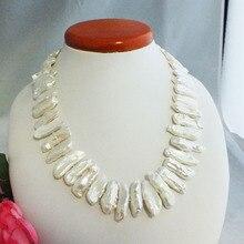 """Роскошные свадебные ювелирные изделия из жемчуга Biwa, ожерелье из пресноводного жемчуга 18"""""""