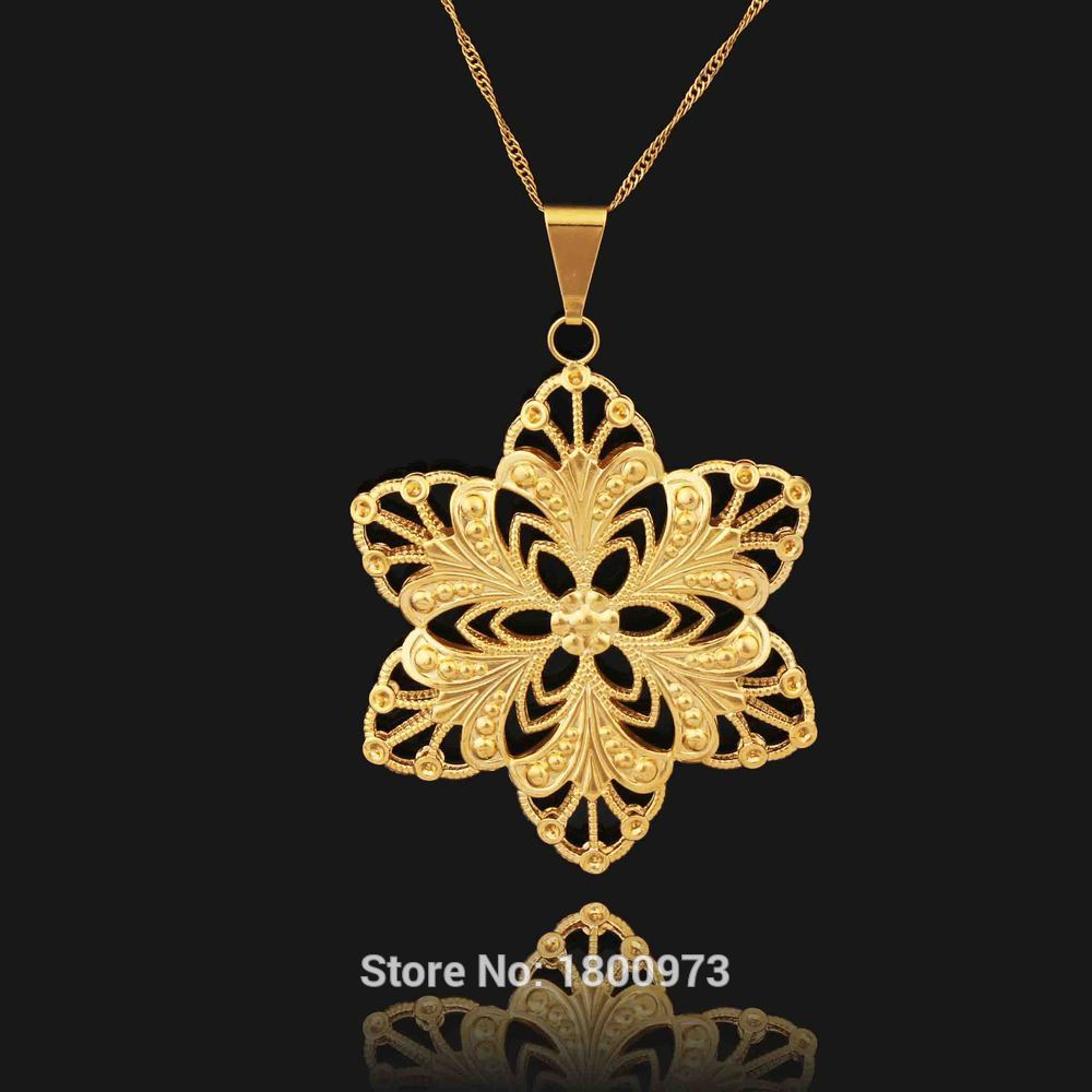 Arabic Pendant Gold Color Pendant & Necklaces Jewelry