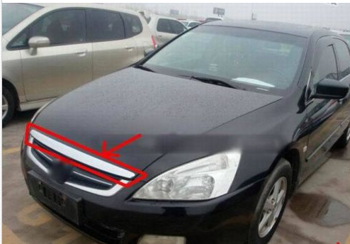 Chrome Hood Trim / Front Grille Around For Honda Accord 2003 2004 2005 2006 2007