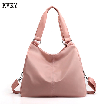 KVKY Women Handbags Ladies Shoulder Bags Oxford Casual Travel Tote Bag Solid Hand Messenger Bag Pink Purse bolsa feminina vsen canvas crossbody shoulder hand tote women bag messenger bags ladies handbags bolsa feminina bolsas bolsos