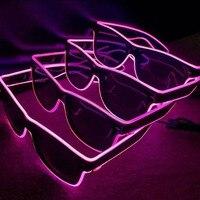 1000 Наборы очков EL Wire светодиодный светящиеся вечерние светящиеся принадлежности освещение новинка подарок яркий свет фестиваль вечерние с
