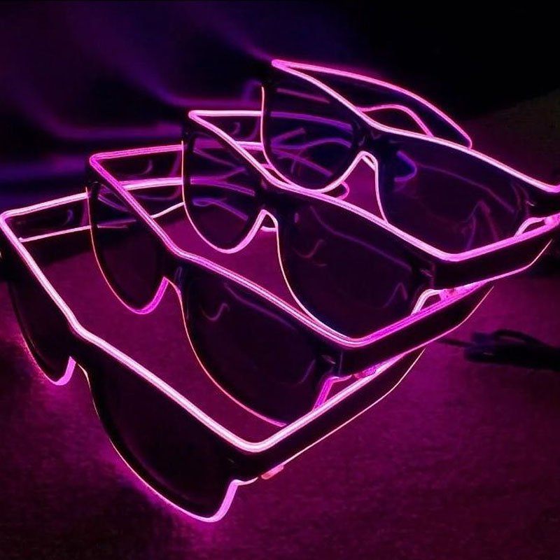 1000sets Glasses EL Wire LED Glasses Glowing Party Supplies Lighting Novelty Gift Bright Light Festival Party Glow Sunglasses